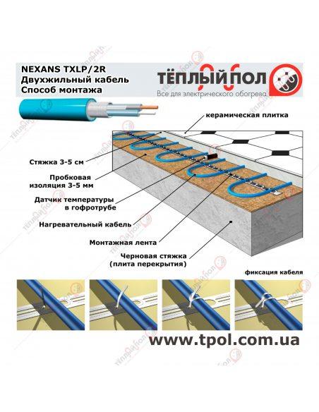 (7,5-9,0 м²) TXLP/2R 1250/17 ☀ Теплый пол
