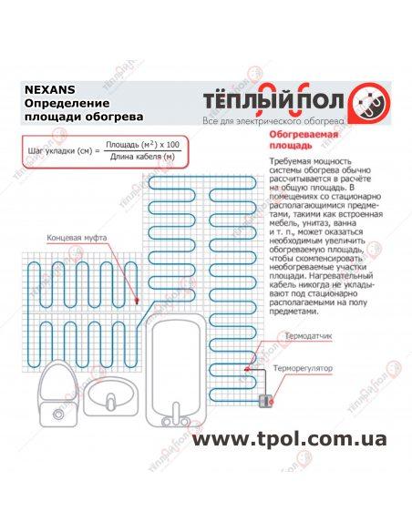 (3,0-3,4 м²) TXLP/1 600/17 ☀☀ Теплый пол