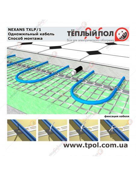 (4,2-4,9 м²) TXLP/1 850/17 ☀☀ Теплый пол
