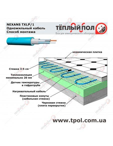 (10,3-12,8 м²) TXLP/1 1750/17 ☀ Теплый пол