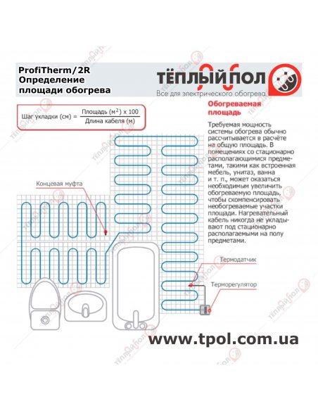 (6,3-7,6 м²) ProfiTherm/2R 1450/19 ☀☀☀ Теплый пол