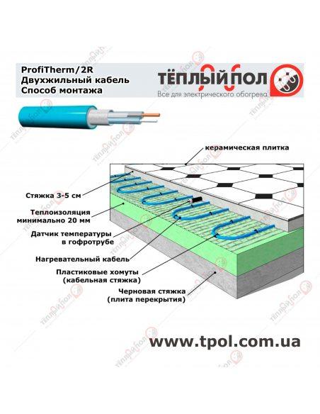 (3,8-4,6 м²) ProfiTherm/2R 725/19 ☀☀ Теплый пол