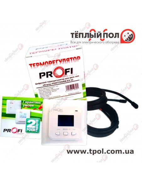 PROFiTherm EX02 (терморегулятор цифровой 2 пола) с двумя датчиками температуры - упаковка - состав поставки