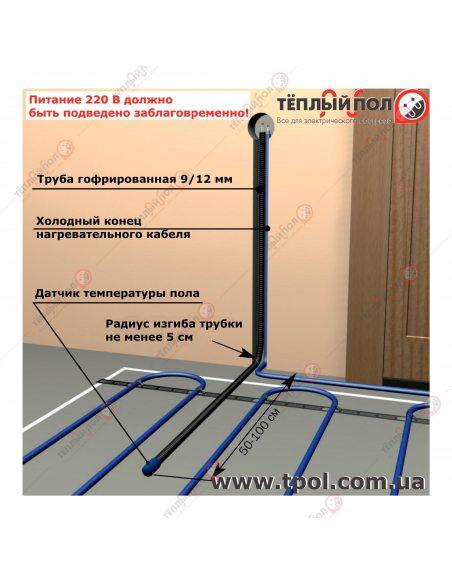 Датчик температуры пола PROFiTherm-S01 - схема подключения и монтажа