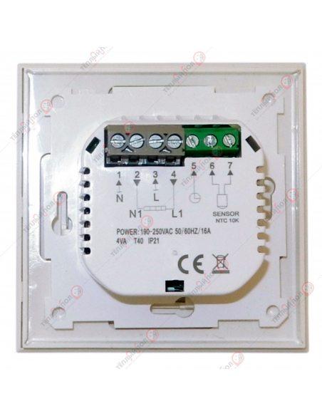 N-Comfort - терморегулятор - вид сзади - клеммы подключения
