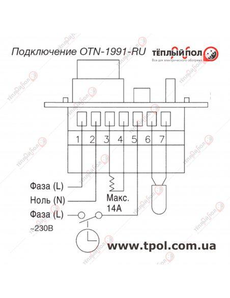 OTN-1991 - терморегулятор механический - схема подключения