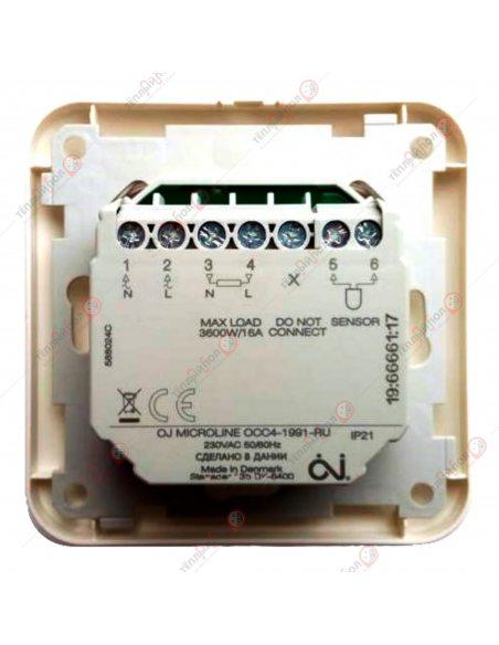 OCC4-1991 - Терморегулятор программируемый - Вид сзади - контакты подключения