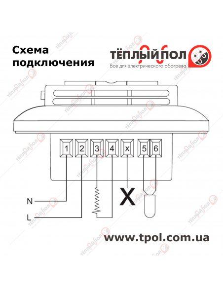 OCC4-1991 - Терморегулятор программируемый - Схема подключения