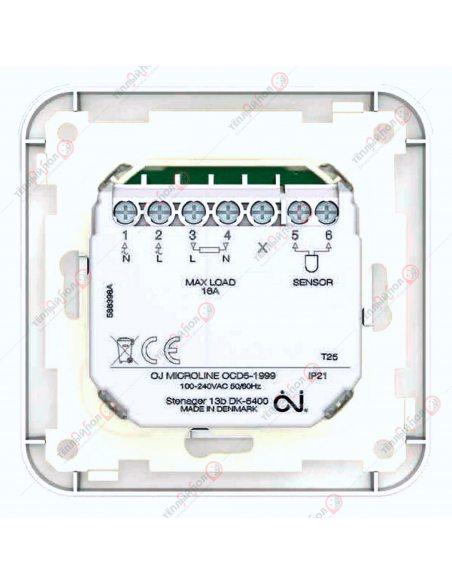 OCD5-1999- Терморегулятор программируемый сенсорный - Вид сзади-контакты подключения
