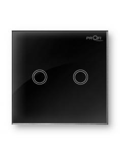 Выключатель сенсорный Profi therm 2TP, Elegant Black