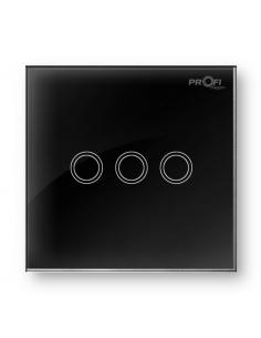 Выключатель сенсорный Profi therm 3TP, Elegant Black